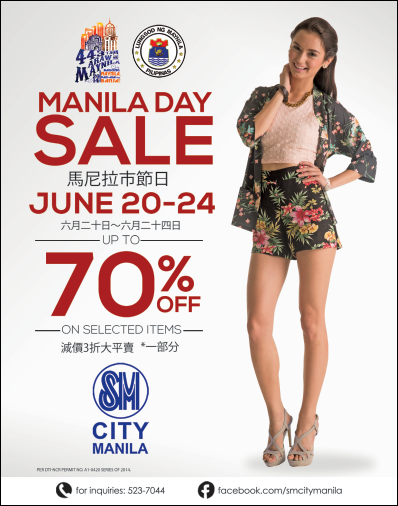 SM City Manila Manila Day Sale poster