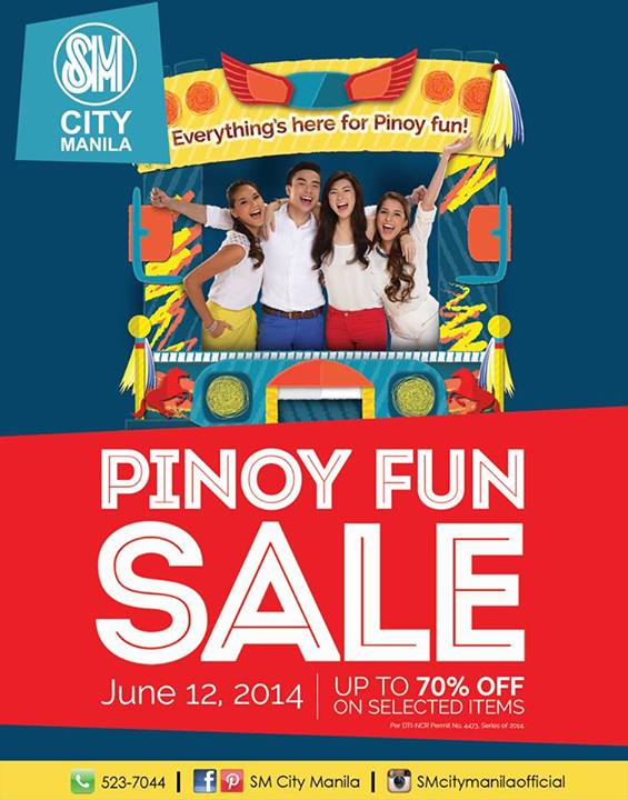 SM City Manila Pinoy Fun Sale poster
