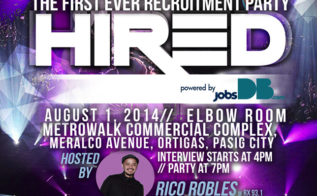 JobsDB Recruitment Party: Hired! Find Your Dream Job in a Completely New and Fun Way
