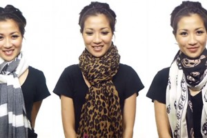 Cool Weather Fashion Tip: Wear Your Scarf in Different Ways