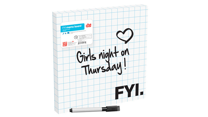Dry Erase Board (FYI) by Decor Craft Inc., P850 at Quirks Novelties & Curiosities