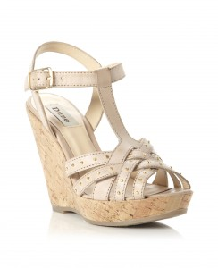 Wedge T-Strap sandals, Burberry