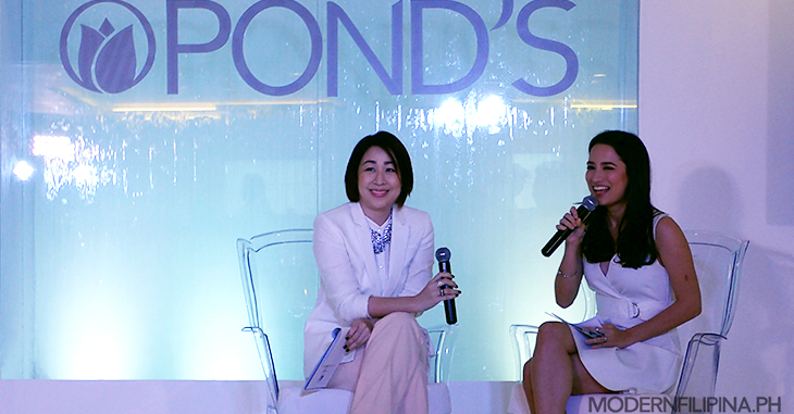 Agoo Bengzon and Nicole Anderson talk beauty trends at the Pond's Pearl Cleansing Gel launch