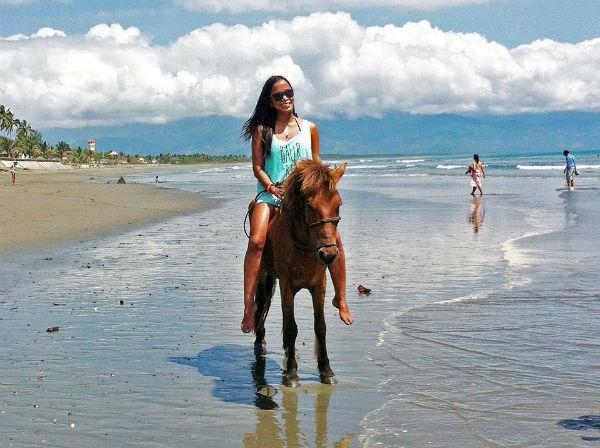 Elaine loves riding horses!