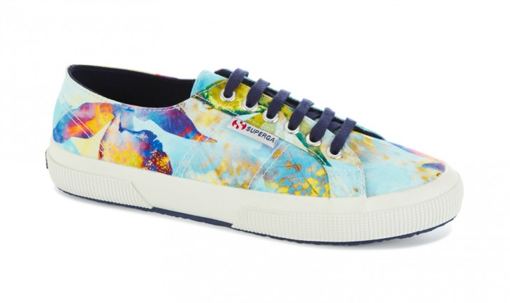 TRY: Superga 2750 in Fabric Bahamas feature tropical floral prints with a strong, breathable cotton upper in lightweight canvas and a fun, colored rubber sole.