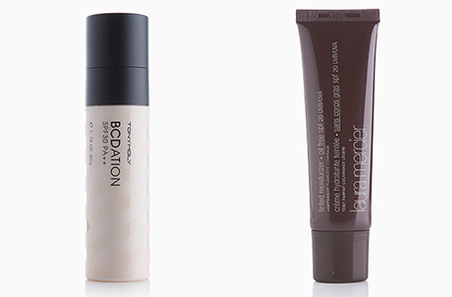 Try: BCDation, P1,198, Tony Moly (left) and Tinted Moisturizer, P1,950, Laura Mercier Cosmetics (right)
