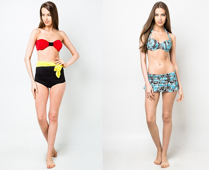 Try: Lovel Side Tie Bow High Waist Set Swimwear, P700, Ashley Collection at Zalora (left); Wild Skin 3pc Set Swimwear, P1,799, Funfit at Zalora (right)