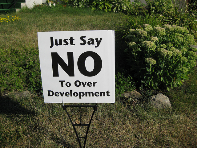 """Just say NO to over Development"" by Peter Blanchard"