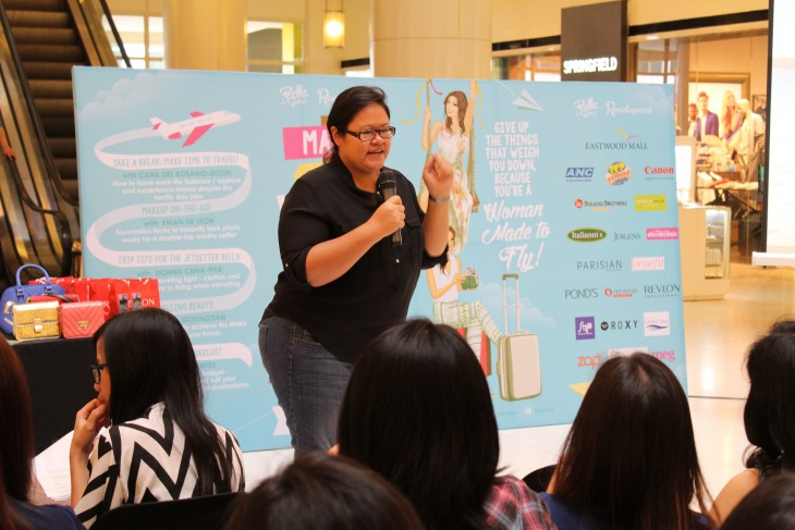 Nina Fuentes of JustWadering.org, discussed how Bellas could fund their wanderlust at the last BDJ Made to Fly event.
