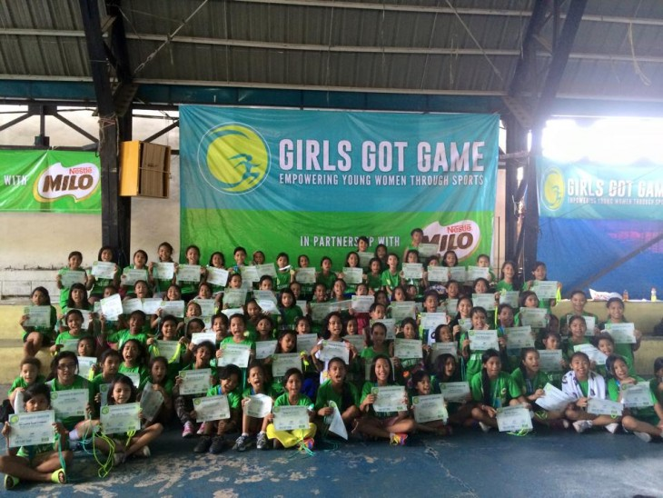 The first batch of Girls Got Game beneficiaries proudly show off their certificates of participation