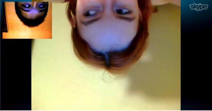 "Literally ""hanging around"" on Skype together in our LDR days"