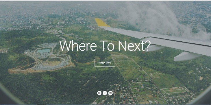 A screen cap from the website of Where To Next?