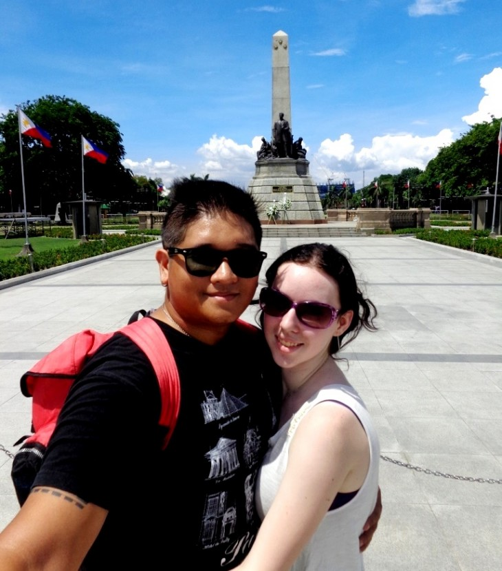 Visiting the famous Rizal Monument