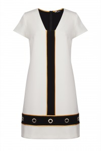 SINEQUANONE White short sleeved shift dress