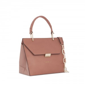 COCCINELLE Top handle satchel in cameo
