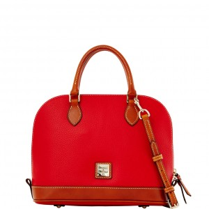 DOONEY & BOURKE Pebble satchel in red
