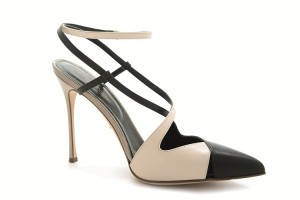 SERGIO ROSSI Bon ton pump in black/white