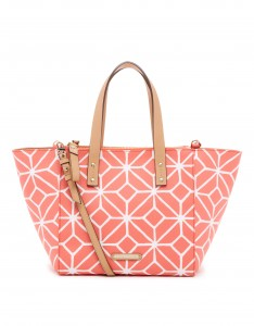 TRINA TURK Poolside satchel in coral