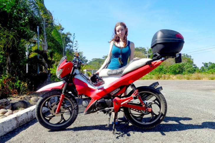 On a motorcycle roadtrip to Subic Bay for our honeymoon