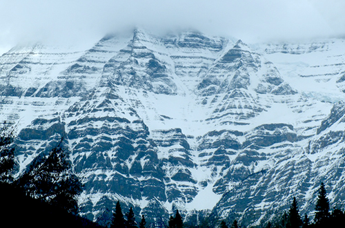 Snowy mountain somewhere in Alberta, Canada