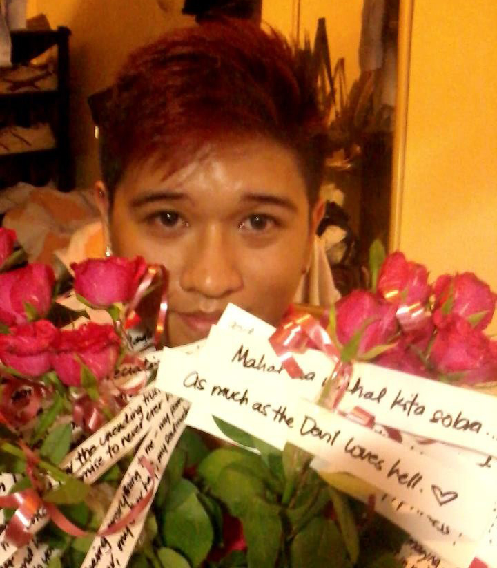 18 roses that he bought on my 18th birthday, with love notes attached to each one. He dried them and mailed them all to me.