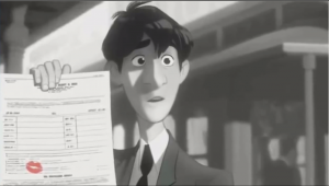 Screenshot from Paperman courtesy of Pixar
