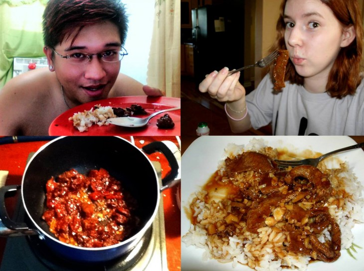 One night when we both cooked tapa and ate dinner together, 7000 miles apart