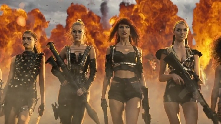 """Screencap from Taylor Swift's """"Bad Blood"""" music video via YouTube"""