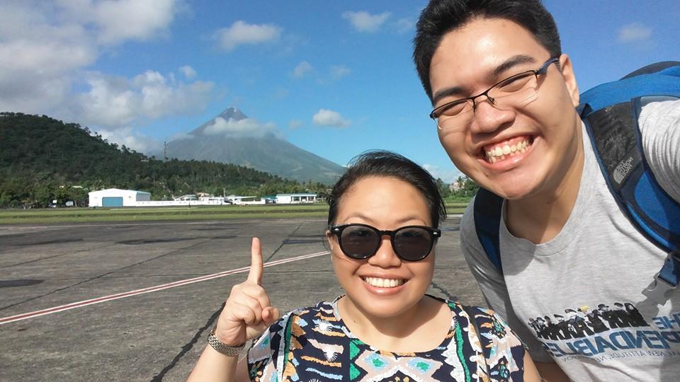 On our honeymoon in Bicol. Taken last December 1, 2015