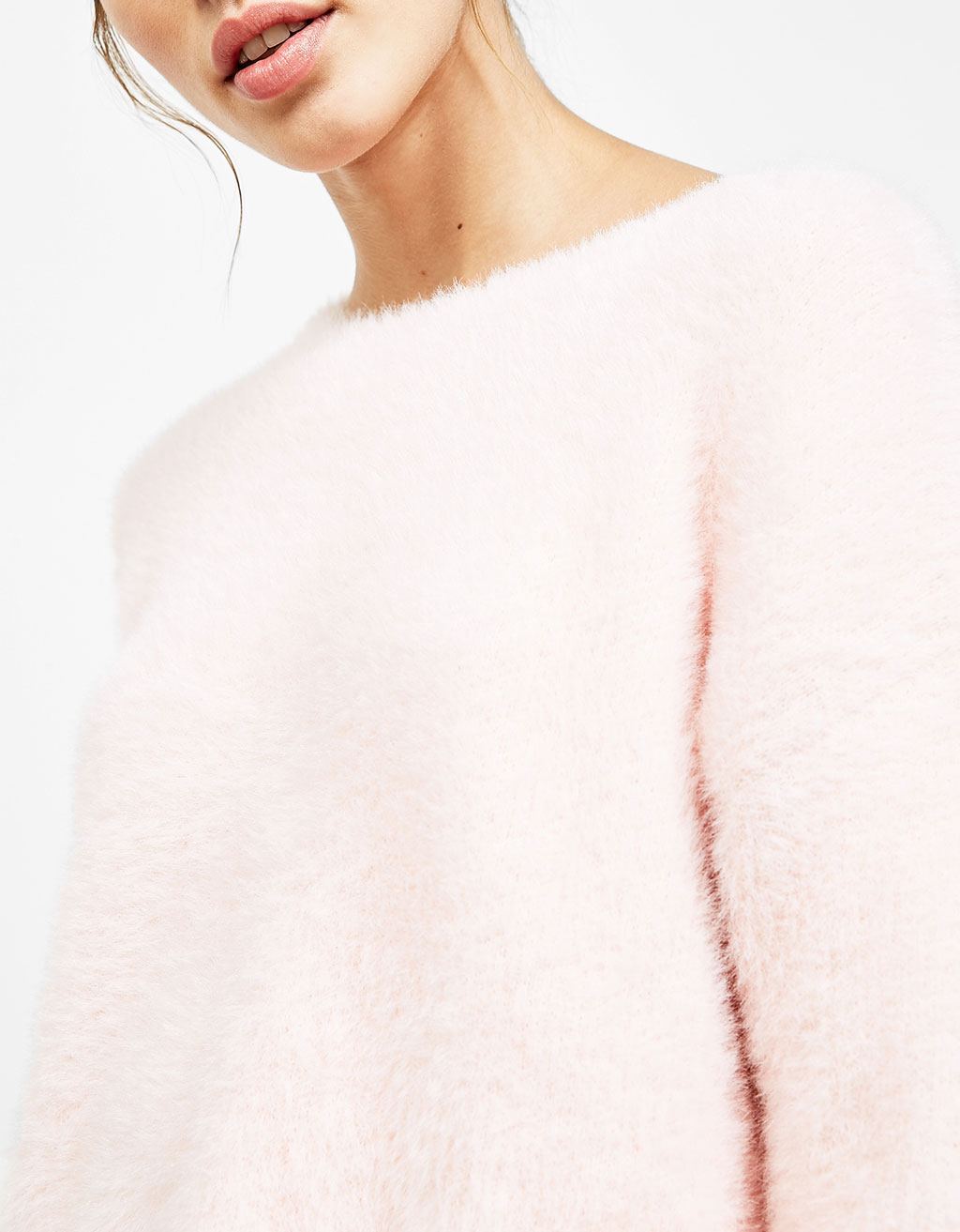 Pink Fluffy Sweater from Bershka, PHP 1,595