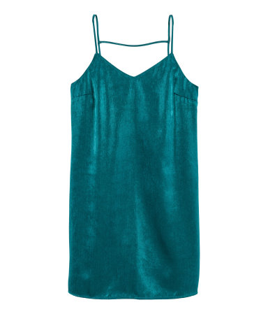 Teal Satin Dress from H&M, PHP 599