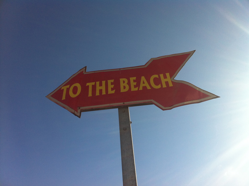 To The Beach Sign