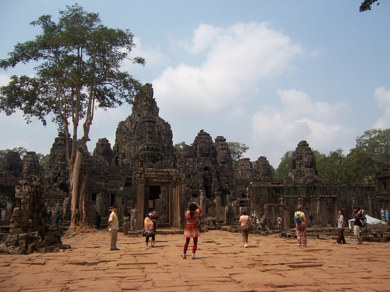 Entrance to the Bayon Ruins in Siem Reap