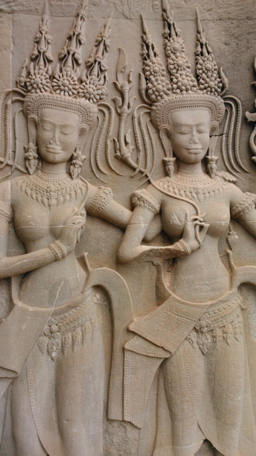 Angkor Wat Women Carvings
