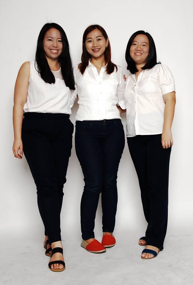 Janine Chiong, Paola Savillo, and Bernadee Uy of Habi Footwear