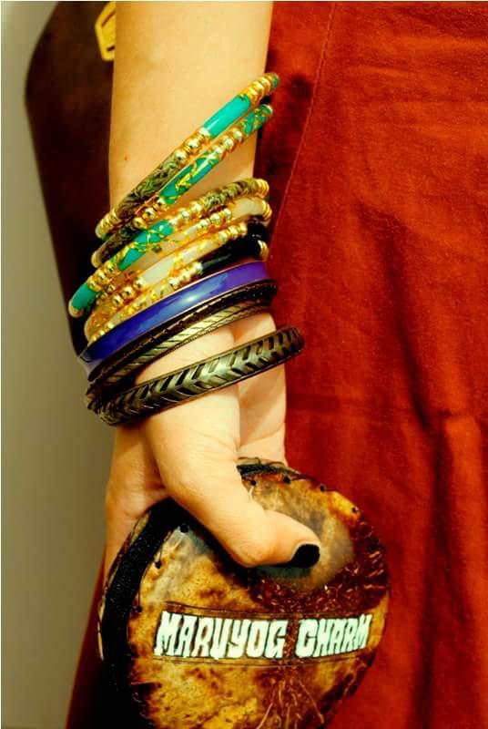 A Girl Wearing Bangles From KATUTUBONG KAMAY HANDICRAFTS Co.
