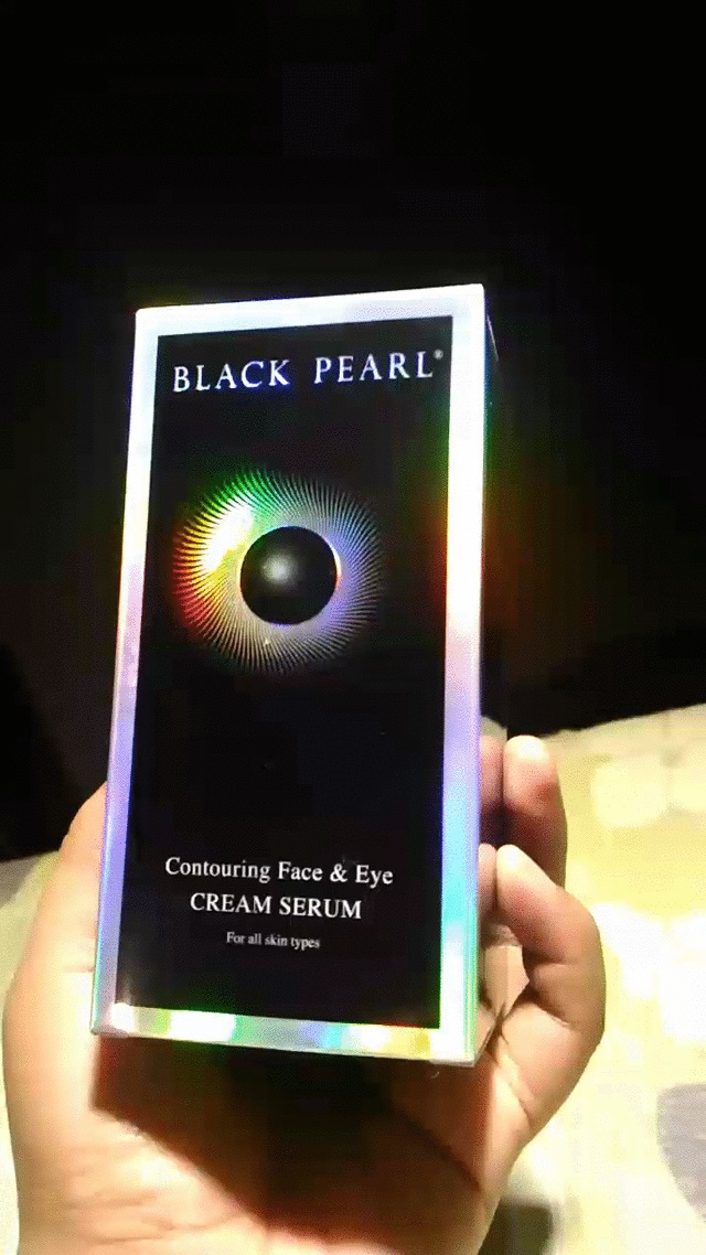 Black Pearl Contouring Face & Eye Cream Serum Front Cover