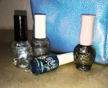 Assorted Glitter Nail Polish