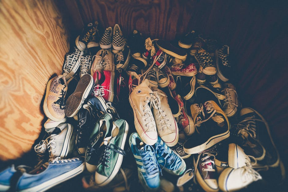 A Pile of Sneakers