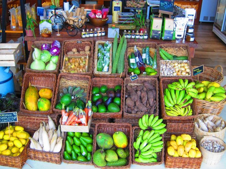 Display of Fruits and Vegetables