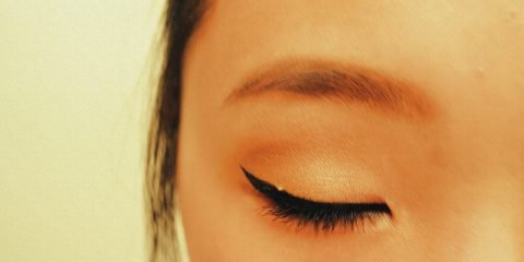 Eye with Winged Eyeliner