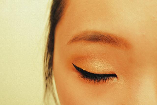 Eye with Winged Eyeliner