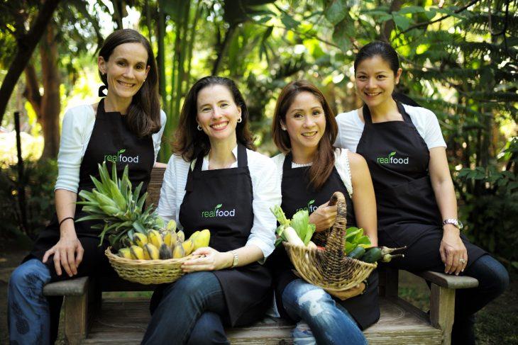 The women behind Real Food (L-R) Honey Almendral, Nicole Fandiño, Katrina Mañosa & Bea Lhuillier