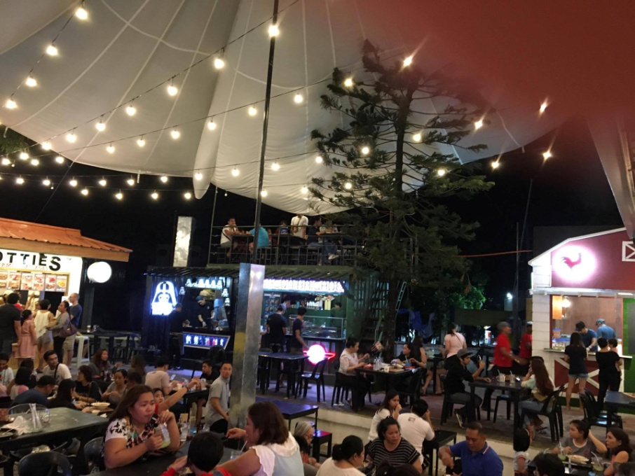 Interior of The Hive Food Park