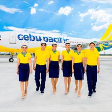 Cebu Pacific crew members
