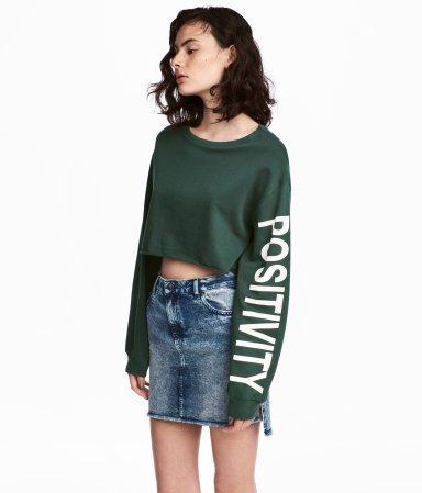 H&M Sweatshirt on a Model
