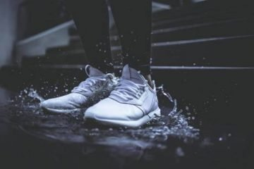 Shoes on a Rain Puddle