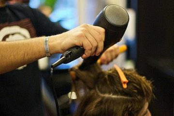 Hair Being Blow-dried