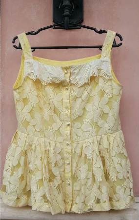 Yellow Babydoll Top - PHP 20