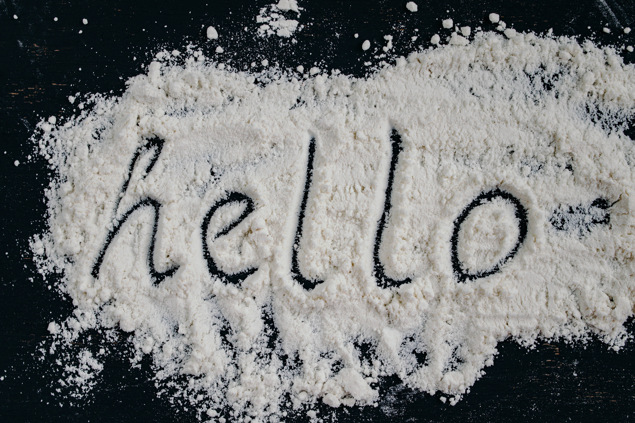 Hello Written On Salt
